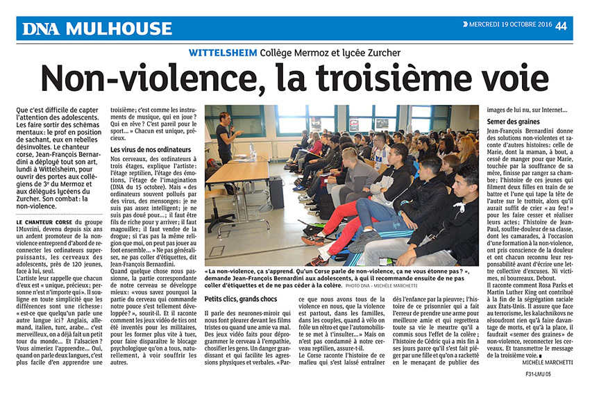 Rencontres Non-violence Wittelsheim
