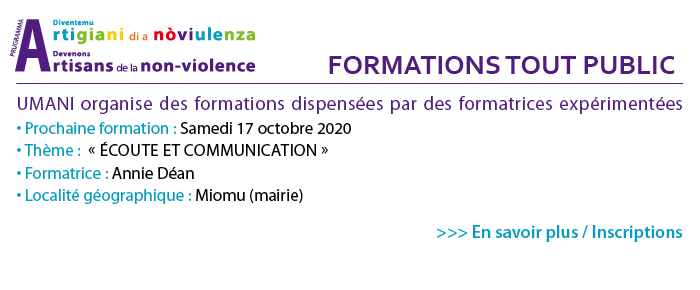 Formations Non-violence